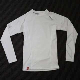 2xu White Long Sleeve Compression Top Sz Medium
