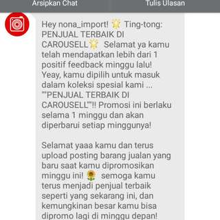 (1) Thank You Carousell