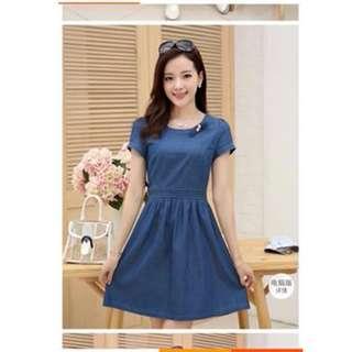 KOREAN SOFT DENIM DRESS
