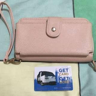Pastel Pink Long Wallet