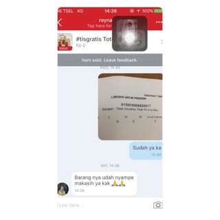 Testimoni From Our Lovely Customer. Thanks For Trusting Us😍😍