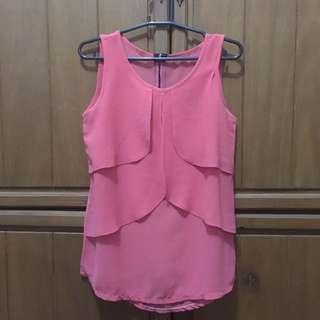 Pomelo Pink Sleeveless Blouse
