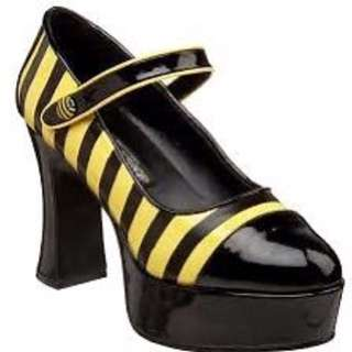 New Pleaser Funtasma BUZZ-66 Black Yellow Platform Heels US 7