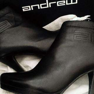Sepatu Leather Ankle Boots Andrew Original (High Heels)