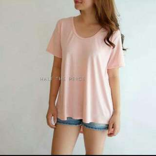 Blush basic uneck longback