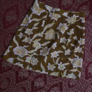 Mini Skirt Motif Bunga
