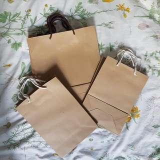 Brand New Plain Brown Paper Bags