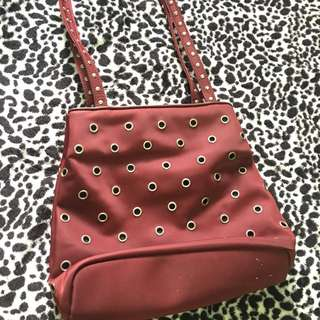 original nine west maroon bag