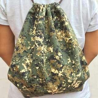 Digital Camouflage Drawstring Bag