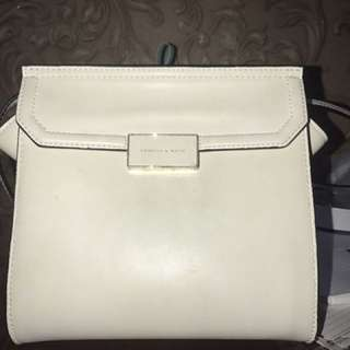 Charles&keith White Sling Bag