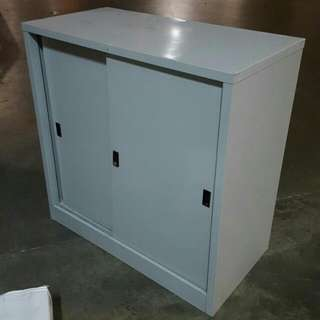 Low Height Sliding Door Metal Cabinet $60 Ea, With Free Delivery Abv 2 Units. All Payment Must Transfer In Advance To Entitle For Free Delivery