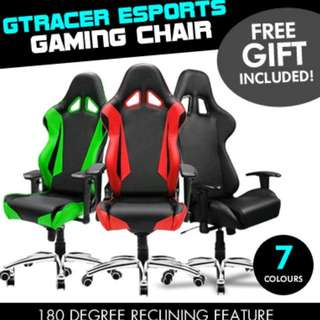GTRacer eSports Gaming Chair [Aluminium Base] FREE Razer Mousepad + Extra Padding[DXRacer/Secretlab]