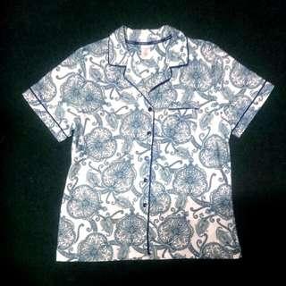 LIZ CLAIRBORNE Blue Paisley Pajama Top