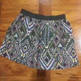Forever21 Aztec Skater Skirt