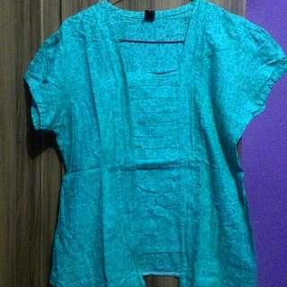 Kebaya Kutubaru Turquoise