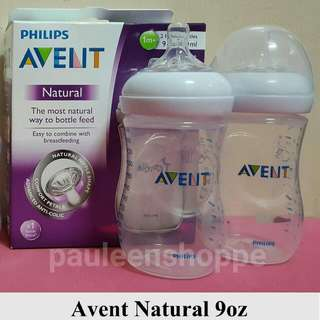 Avent Natural 9 Oz. Clear Twin Pack
