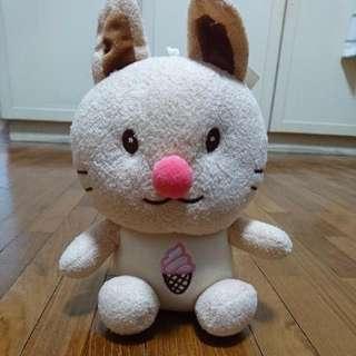 Ice Cream Bunny Soft Toy