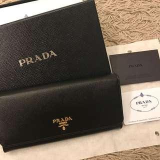 Brand NEW🌟PRADA Women Saffiano Leather Flap Wallet