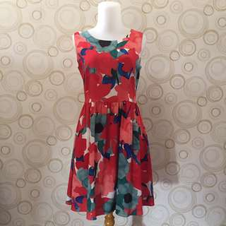 Floral Painting Dress