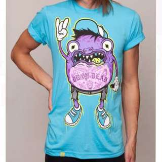 Drop Dead Frog Trash Blue T-Shirt Size XL