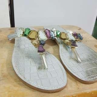 銀色寶石涼鞋