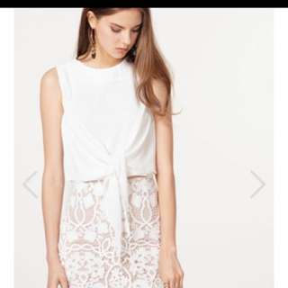 The Closet Lover TCL Pane Top in White (Size S)