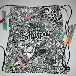 Sharpie String Bag