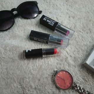 City Color And Wet N Wild Lipsticks