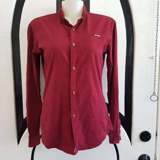 Red Polo with Skull Buttons