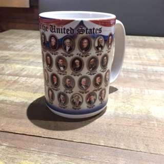🚚 歷代美國總統圖案大馬克杯!