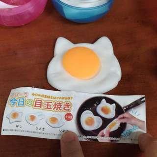 玉子 荷包蛋 貓咪造型 可愛舒壓 扭蛋