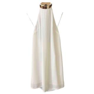 Keepsake White Halter Mini Dress