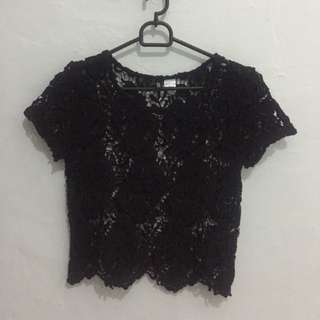 H&M Lacey crop top