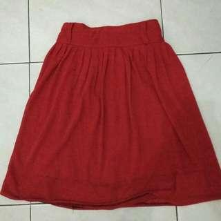 Reprice!!Red skirt