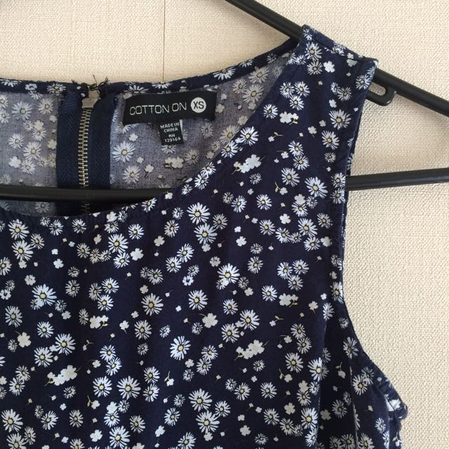 90s Style Daisy Print Dress