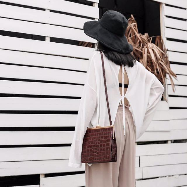 冰絲針織後綁帶空調防曬衣(兩色)