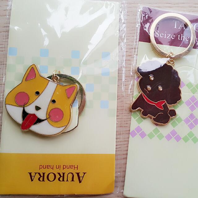 限時免運)全新狗狗貓貓硬殼耳機包、零錢包、充電線包、鑰匙圈