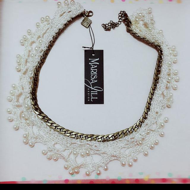 珍珠蕾絲項鍊 領片