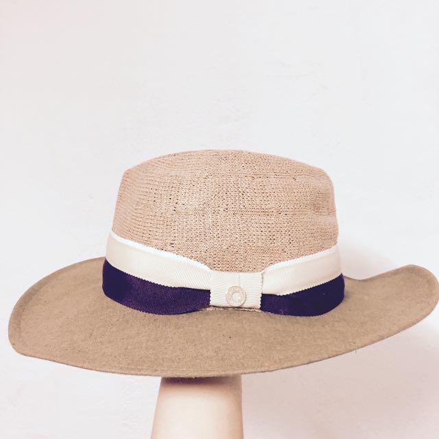 正韓 異材質拼接紳士帽