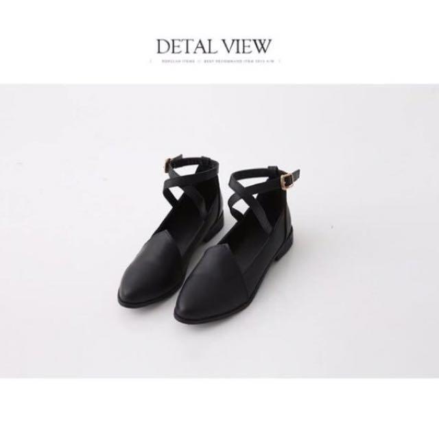 低跟瑪莉珍鞋 綁帶 皮鞋