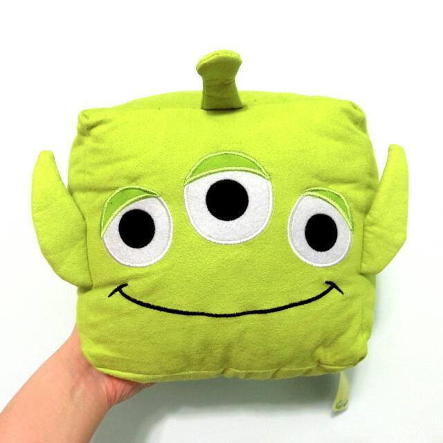 迪士尼 玩具總動員 三眼怪 方形抱枕