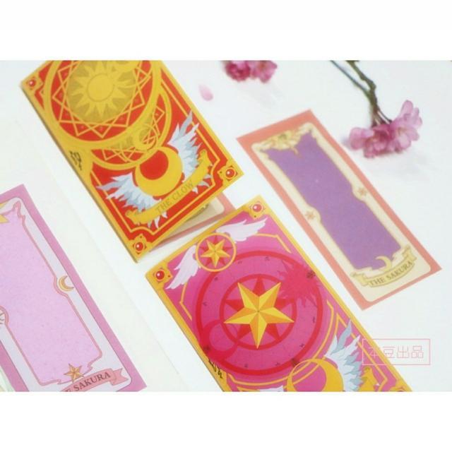 庫洛魔法使 小櫻牌 庫洛牌  造型便條紙