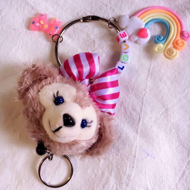達菲熊 客製化公仔 客製鑰匙圈 伸縮扣