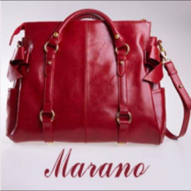 義大利 Marano 蝴蝶結波士頓包 100%牛皮