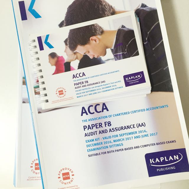 ACCA F8 Kaplan Exam Kit, Complete Text And Pocket Notes