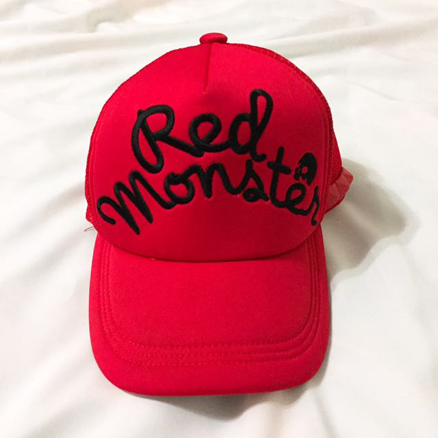 AES 紅色卯釘棒球網帽