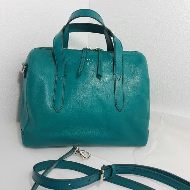Authentic Fossil Sydney Satchel Turqoise