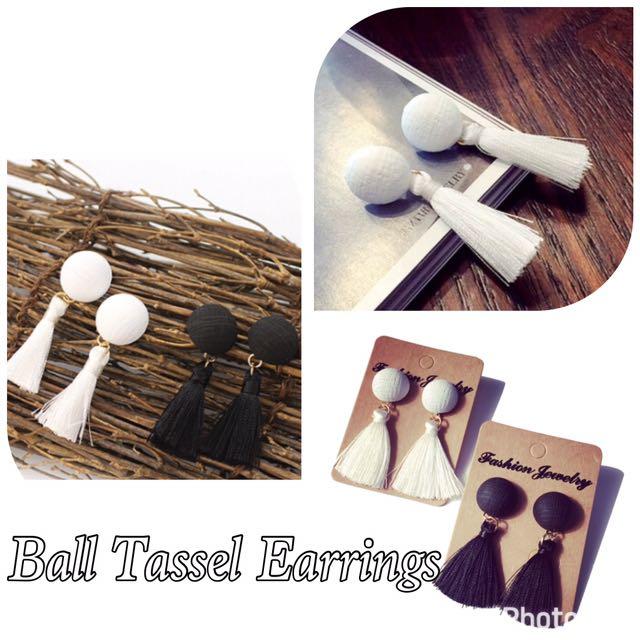 Ball Tassel Earrings