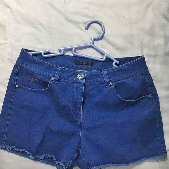 Blue Highwaist Short