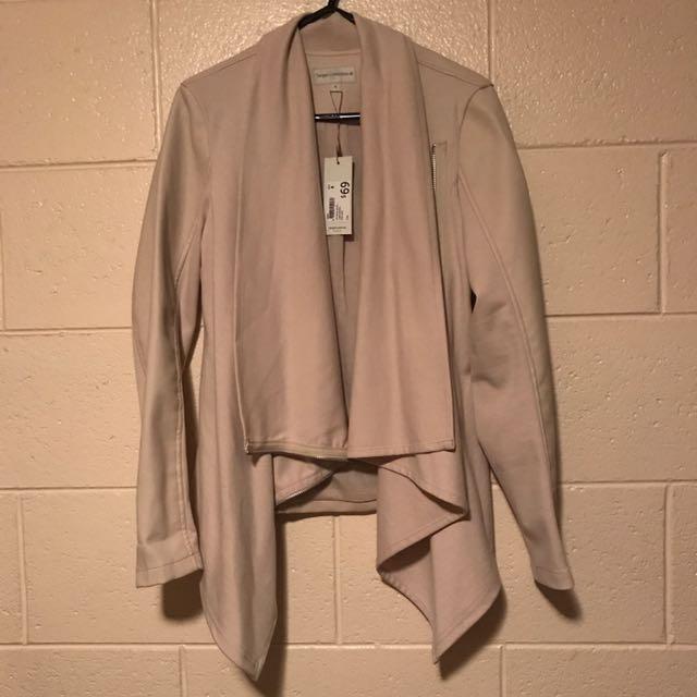 BNWT: Target Cream Waterfall Biker Jacket Coat Cardigan RRP $69, Size 6